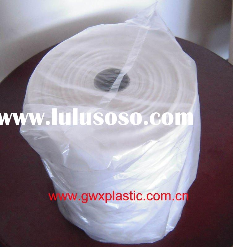 t-shirt plastic bags on roll