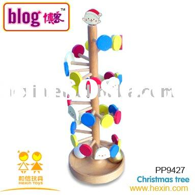 wooden toys-Christmas tree (building block toy,building block,balance game )