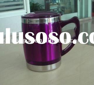 16oz promotional double wall stainless steel auto mug with hands