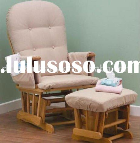 Dolphinbaby Classic Glider Chair and Footstool,wooden glider rocking chair