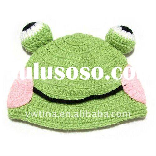 Lovely Green Frog Crochet Baby Hats/Children Hats