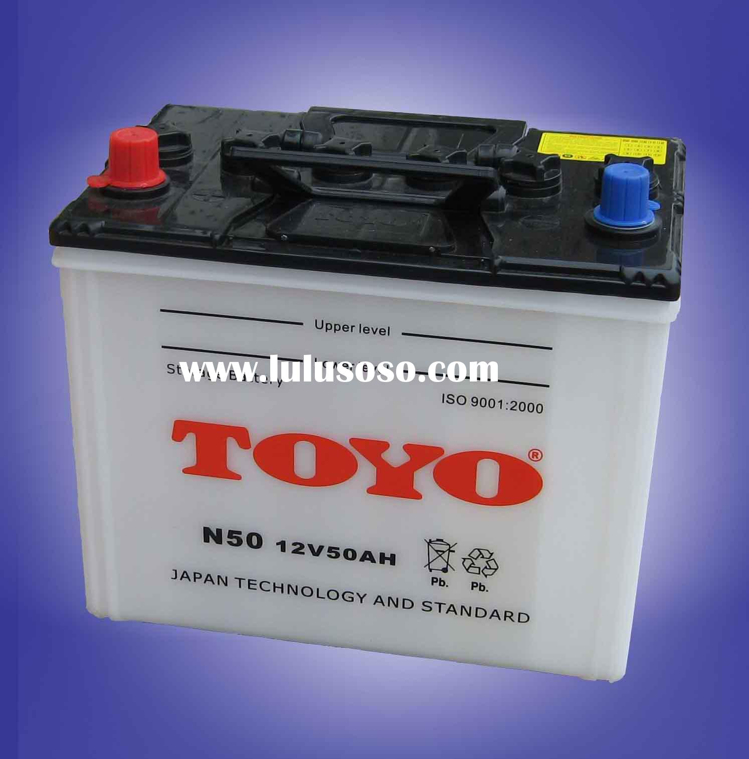 N50 Dry charge auto car battery