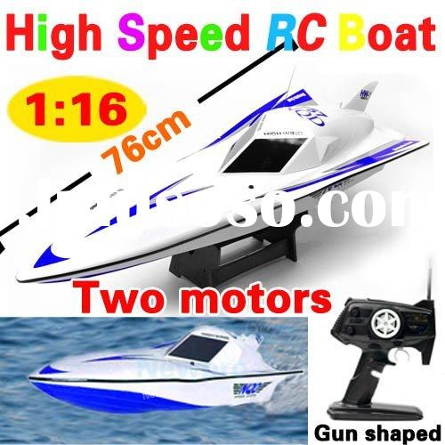 New arrival!!!Big size 76cm Multifunctional R/C Speed Boat Remote Control Ship+two motors B332(B)
