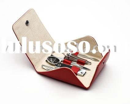 Red Leather Manicure Set