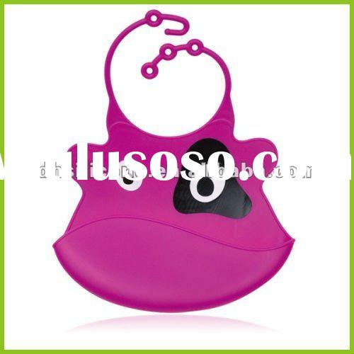 cute food grade silicone baby bib wholesale