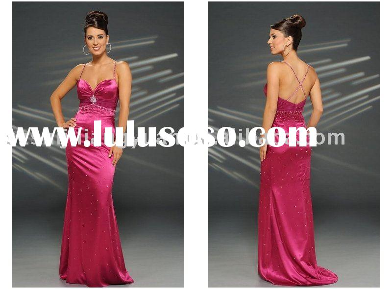 2012 new style low price hot pink popular party dress