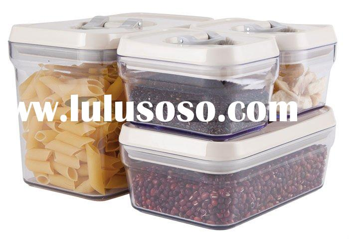 5 Pcs Cubi Shape Plastic Lid Lock Storage Jars set with Plastic Lid