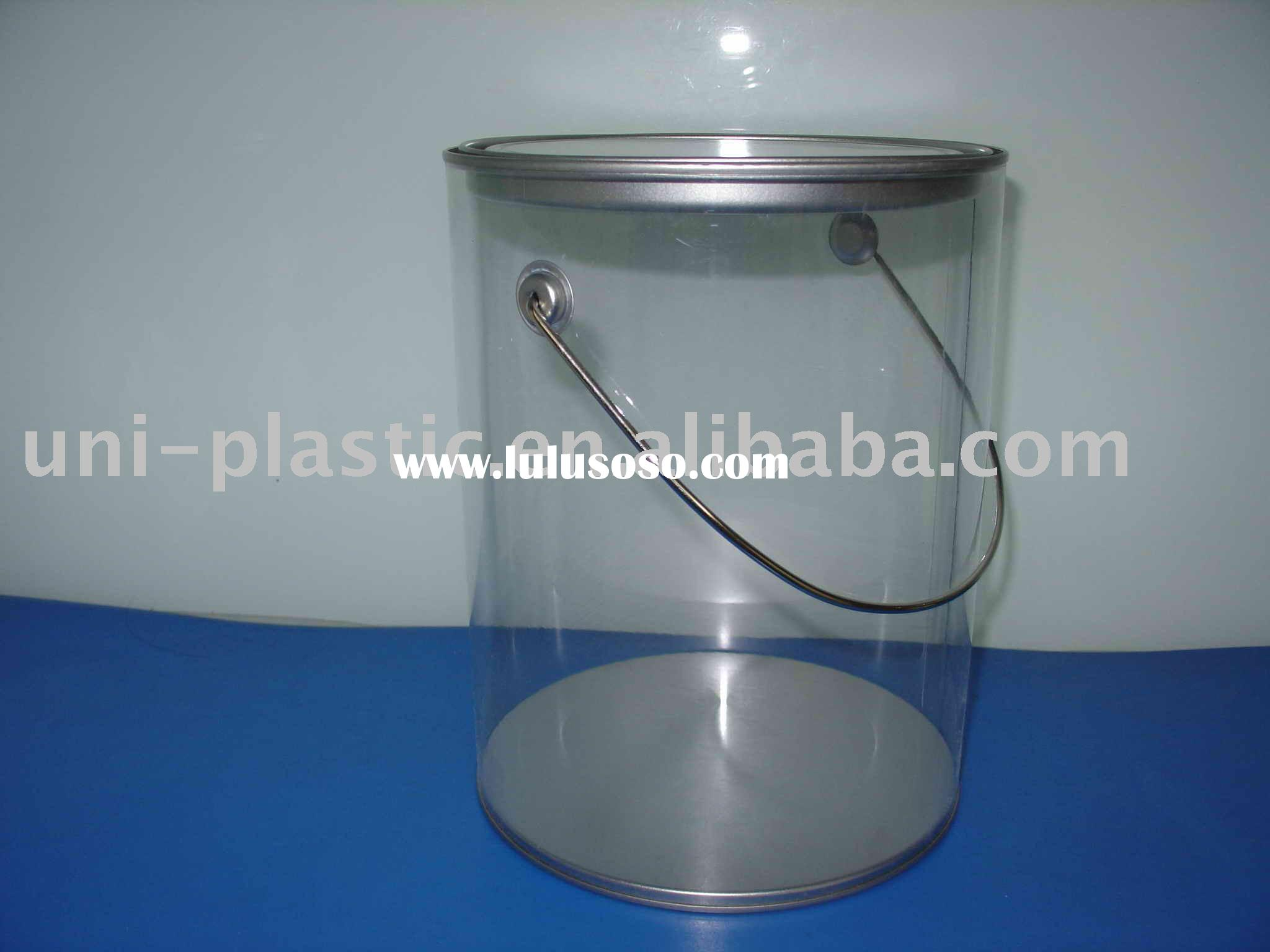 1 gallon clear paint can w handles and opener for sale for 1 gallon clear plastic paint cans