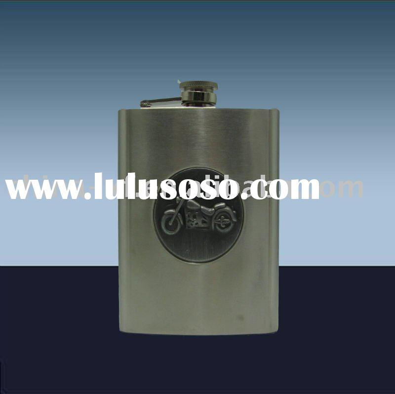 Factory direct wholesale high quality 8OZ sanding stainless steel hip flask