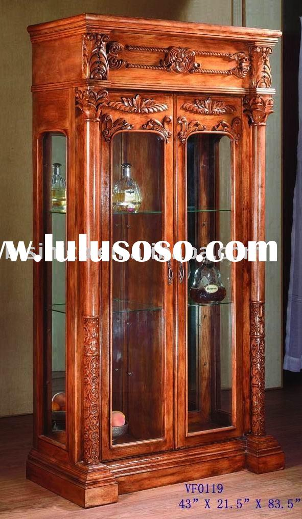 French provincial solid wood wine cabinet,living room cabinet,living room furniture,anqitue home fur