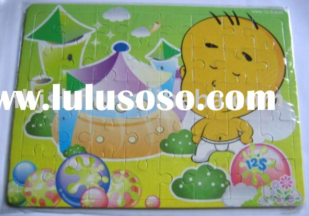 HT-2507 Cartoon Plastic Jigsaw Puzzle for Children