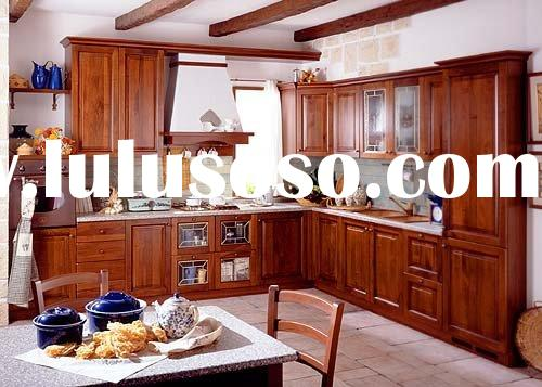 Kitchen Cabinet,Solid Cherry Wood Kitchen Cabinetry with Granite Countertops
