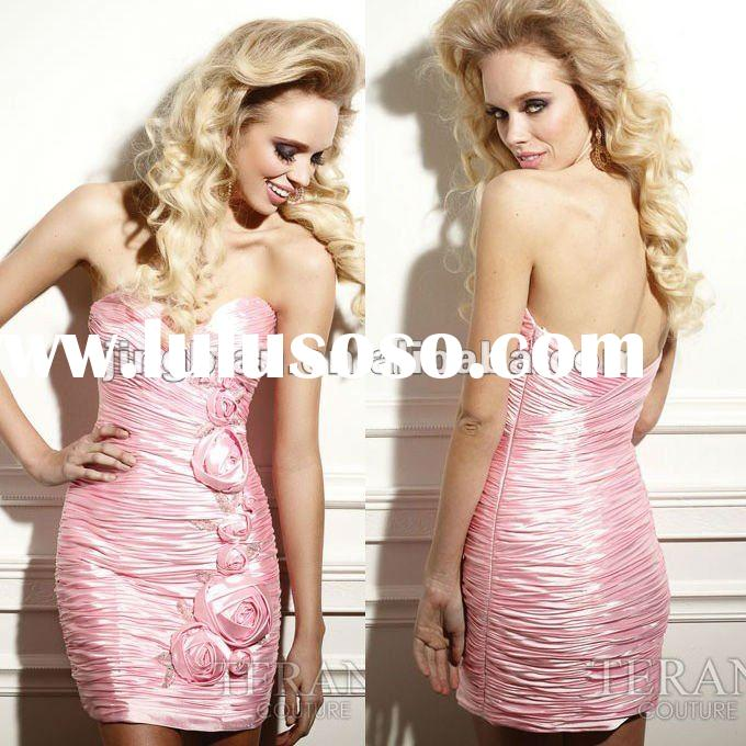 Pink Short party dress by Terani couture SC1205