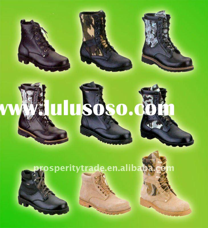 Steel toe military boots factory