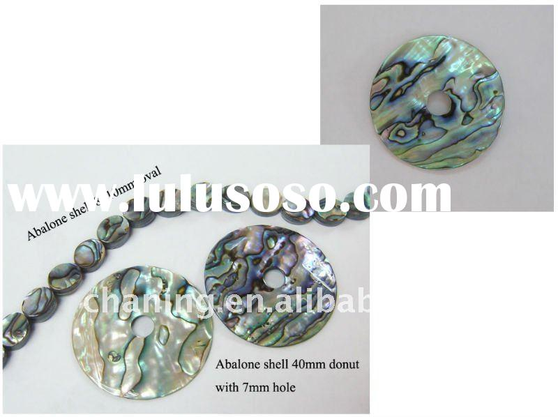 Wholesale natural abalone round shell donut & oval beads