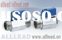 chrome plated brass mini ball valve