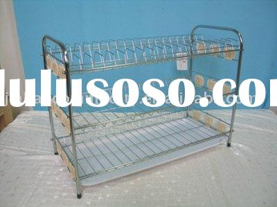 Three Tier Wall Mount Chrome Wire Magazine Rack For Sale