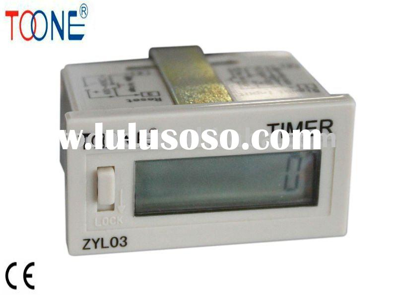 miniature built-in battery LCD display digital electronic hour counter /meter ZYL03