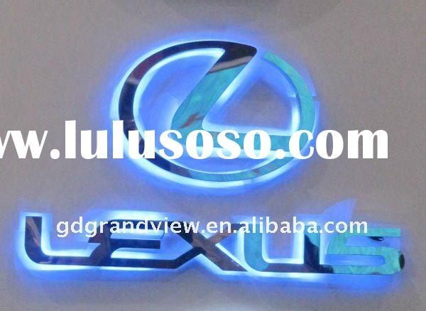 mirror polished stainless steel channel letter