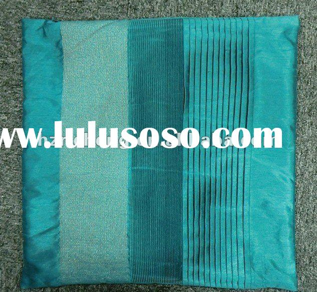 100% Polyester Slub Faux Silk Embroidery And Pintuck Cushion Cover