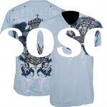 100%cotton o-neck mens make t-shirt with printing on front and back