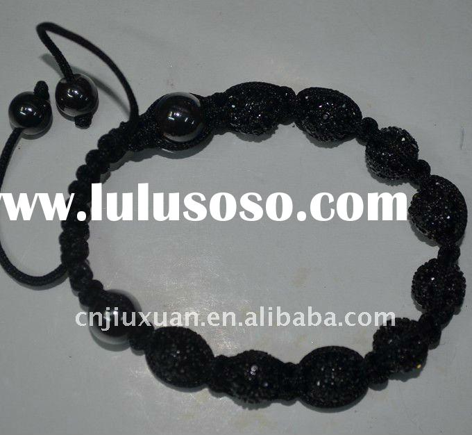 2011 Fashion black shamballa bracelet wholesale