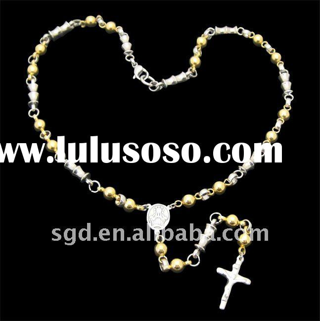 2011 Hot Sale Stainless Steel Rosary Chain For Men