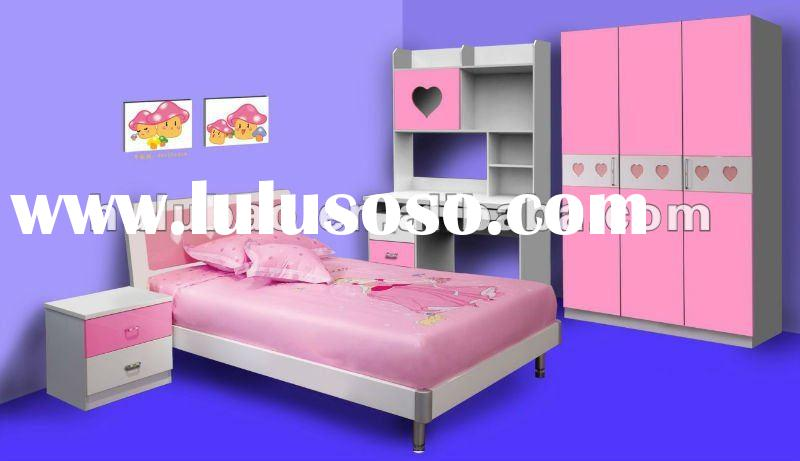 2012 new design best seller MDF high glossy finish beds for girls