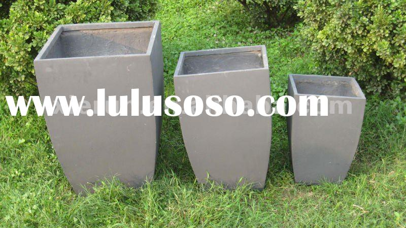 2012 new lightweight water proof enviromental fiber clay garden flower pots