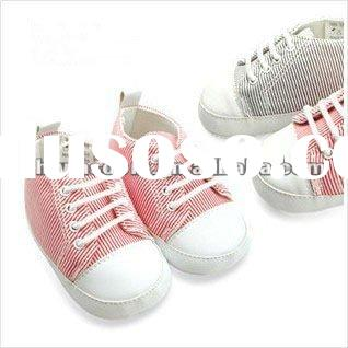 2012 newest style zebra striped design baby girl shoes