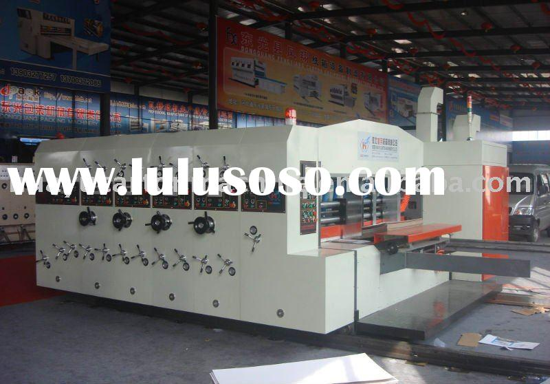 BJ-A series of automatic printer rotary sloter die cutting creasing stacker machine(lead edge feeder
