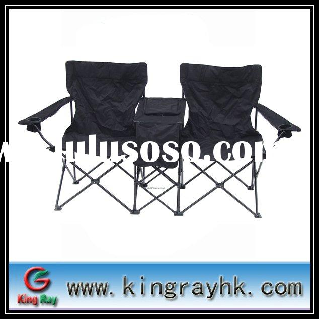 Black double camping chair