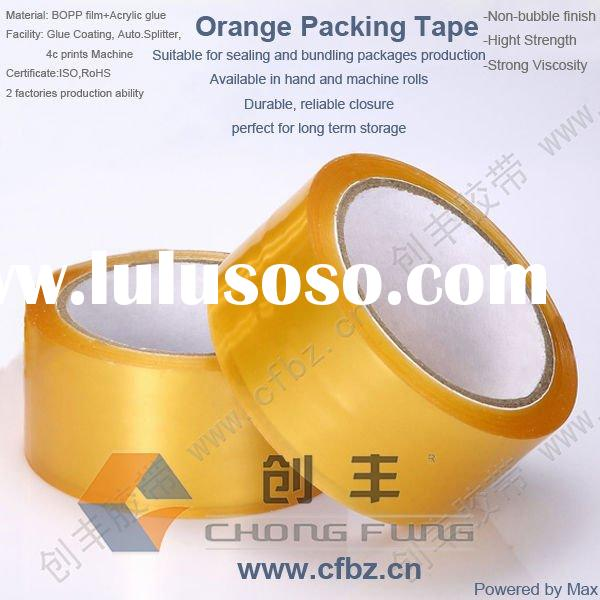 Clear Orange Heavy Duty Acrylic Adhesive yellow transparent tape