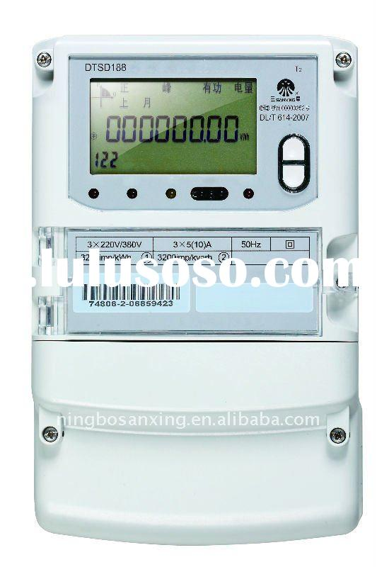 Electronic Three Phase Four Wire PLC Multi-function Smart Energy Meter