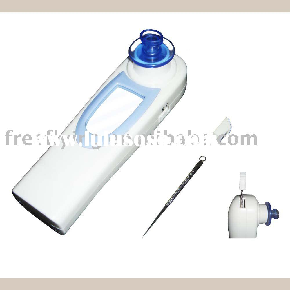 Facial pore cleaner with mirror and pimple pin, facial cleaning set, pore cleaner