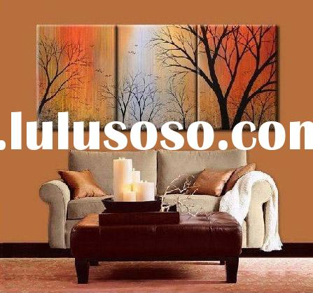 Group oil painting Hand painted Hotel decoration yttht006