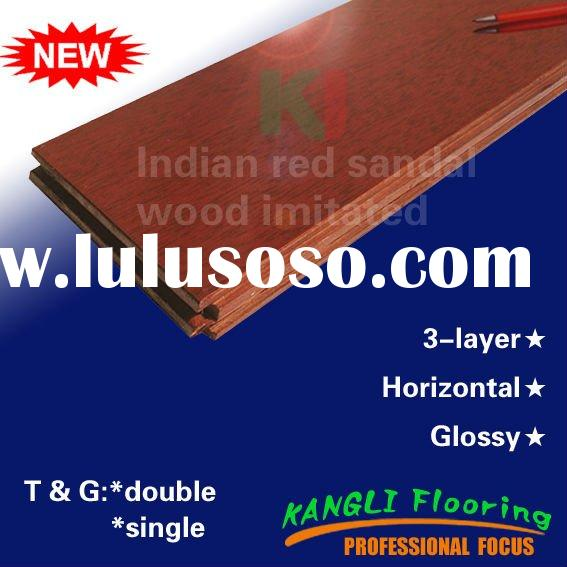 Indian red sandal wood imitated,Glossy,Horizontal bamboo flooring
