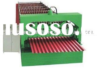 Manufacturer of cold rolled color steel corrugated roofing sheet roll forming machine of high qualit