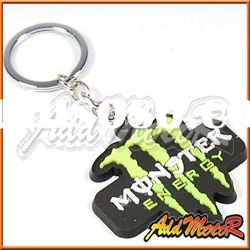 Motorcycle Key Chain Rubber KeyRing 1064# Black