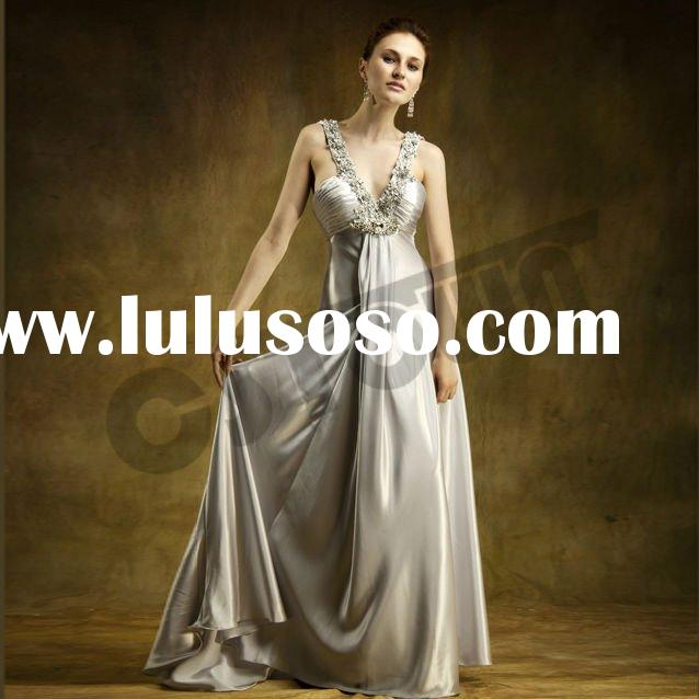 New Classic! Elegant Spaghetti Strap Evening Gown