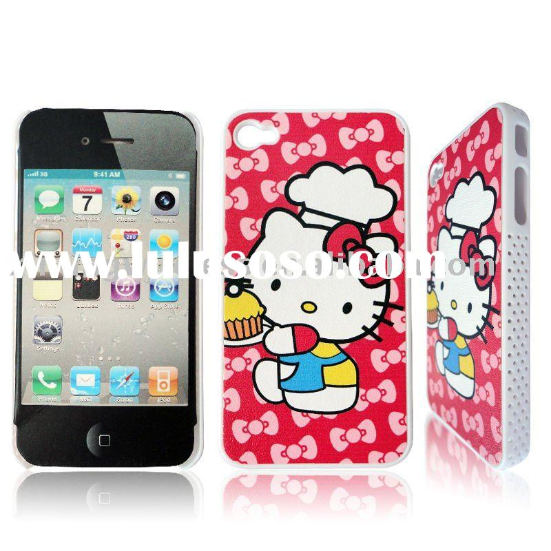 New Craft IMD Cute Hello Kitty Cell Phone Hard Case for iPhone 4G