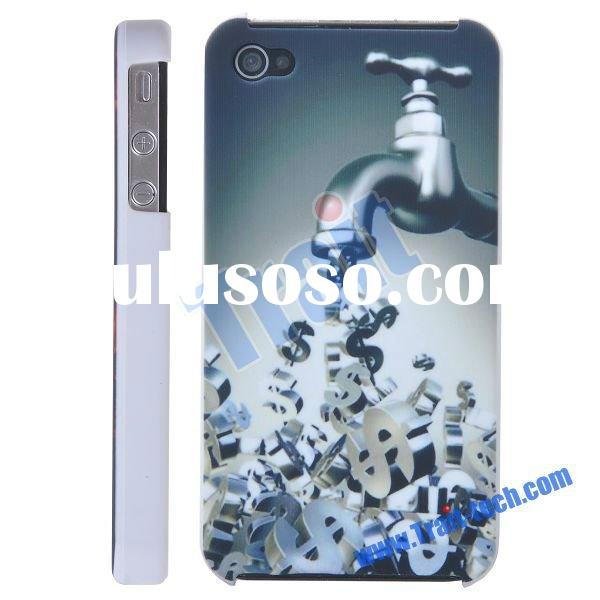 Newest Fashionable Dollar Coin front and back case for iphone 4