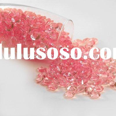 Pink Acrylic Diamond Confetti Scatter For Party Table