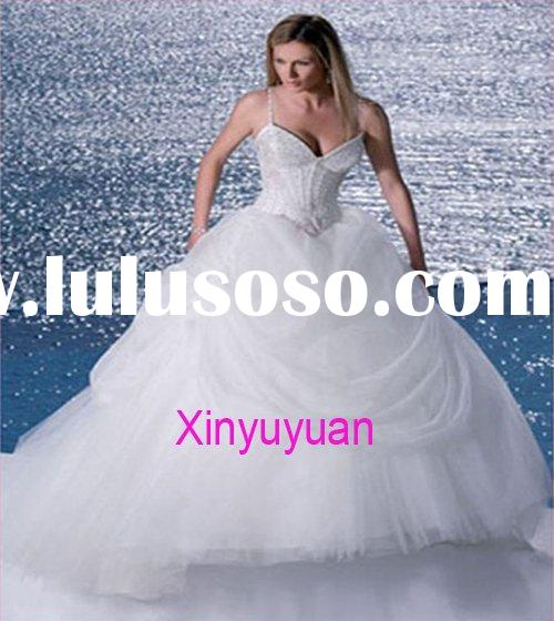 Popular hot sell beach custom made bridal dresses ps17