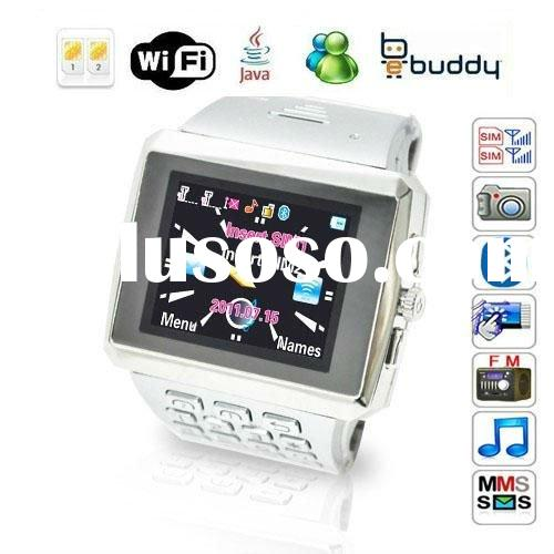 Quad Band JAVA Touch Screen Wrist Watch Phone