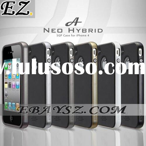 SGP case for iphone 4 Neo Hybrid Series Silicone Case +Polycarbonate Frame for iPhone 4 4G IP-546