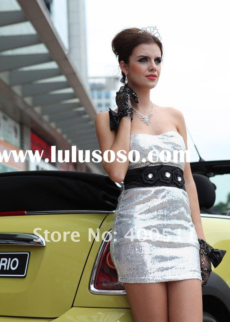 Silver Mini Evening Dress, Ladies Fashion Dress, Party Dress, Free Shipping, 2011 New Style