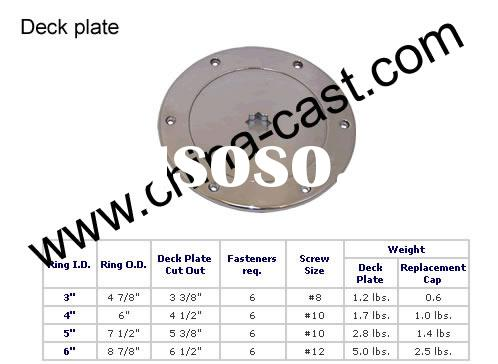 """Stainless Steel Deck Plate 6 Hole Pattern,Sizes: 3,4,5,6"""""""