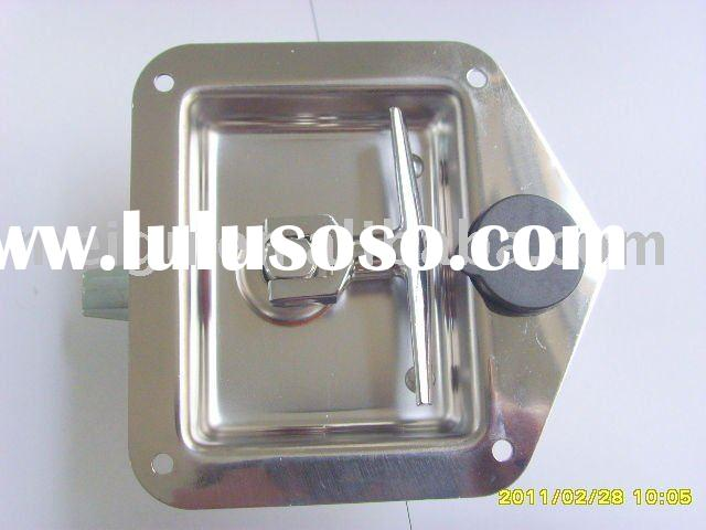 Stainless steel tool box lock for truck