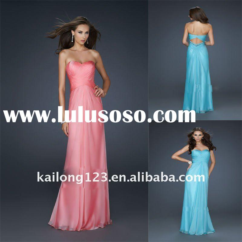 Sweetheart Empire Ruched Chiffon Prom Dresses 2012